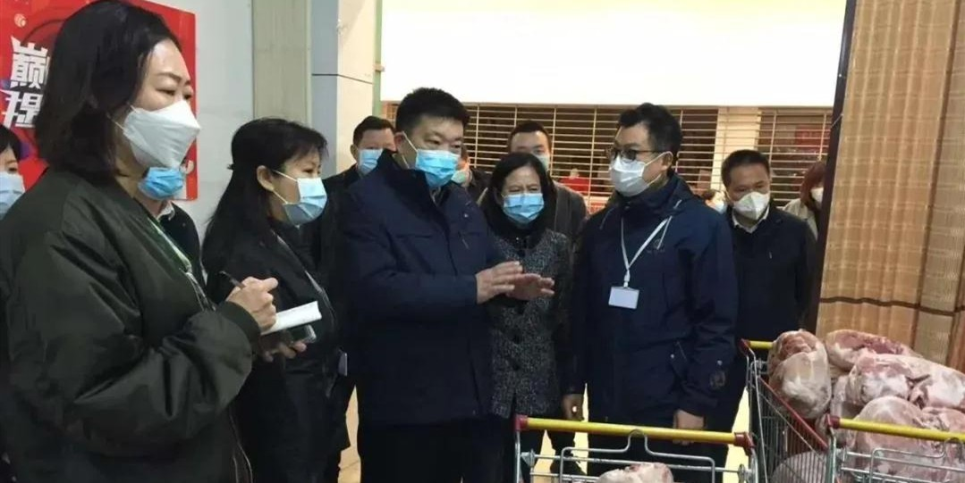 武汉市委副书记、市长周先旺一行检查亚搏体育苹果app下载超市珞喻店